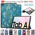 Gligle – coque magnétique ultra-fine pour Samsung Galaxy Tab A7 T500, 2020 pouces, avec stylet