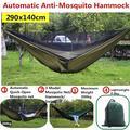 Hamac Anti-moustique à ouverture rapide automatique, 290x140cm, hamac simple Double avec