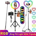Tongdaytech – anneau lumineux LED RGB avec variateur en forme De cœur, lampe De remplissage,