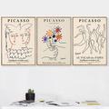 Affiches nordiques de Picasso Matisse, peinture sur toile abstraite de fleur de fille, corps,