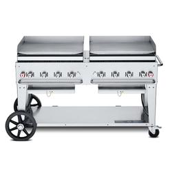 """Crown Verity MG-60NG 58"""" Mobile Gas Commercial Outdoor Griddle, Natural Gas"""