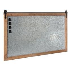 August Grove® Aghan Modern Farmhouse Barn Door Magnetic Wall Mounted Metal Board Metal in Brown, Size 25.5 H x 40.0 W x 1.0 D in   Wayfair