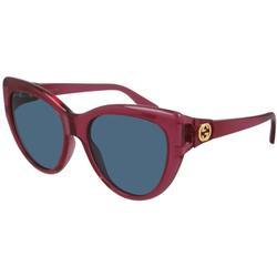 GG0877S 004 Women's Sunglasses Red - Red - Gucci Sunglasses