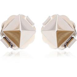 18k White Gold Spike Earrings - White - Artisan Earrings