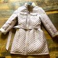 Michael Kors Jackets & Coats | Michael Kors Quilted Puffer Jacket | Color: Gold/Red | Size: M