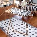 Mackenzie-Childs Butterfly Collection Tray Table Metal in Black/White, Size 40.0 H x 24.0 W x 16.0 D in   Wayfair 246-4501
