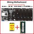 Carte mère de minage sans élévation, 8 GPU, micro, Etherum, avec 64 go de SSD MSATA DDR3, 4 go de