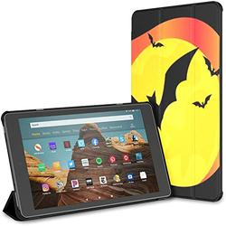 Kindle Case Pu Leather Smart Cover Bat On Halloween Bloody Day Vector Case for Kindle Fire Hd 10 Kindle Fire Hd 10 Inch Tablet Case(9th Gen 2019/7th Gen 2017) with Auto Wake/Sleep