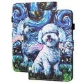 "All-New Fire HD 8 2020 Case, Fire HD 8 Plus 2020 Case, APOLL Premium PU Leather Slim Lightweight Anti-Slip Stand Case with Auto Wake Sleep for Fire 8 & 8 Plus Tablet (8"" HD Display), Painting Dog"