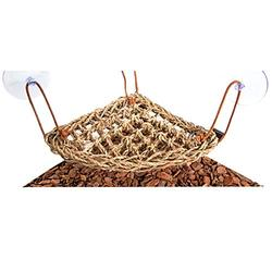 Reptile Hammock Natural Seaweed Woven Reptile Hammock Sling Connection, Triangle Pet Swing Toy for Tortoise/Frog/Iguana/Bearded Dragon, Easy to Clean (Size : 20x30cm)