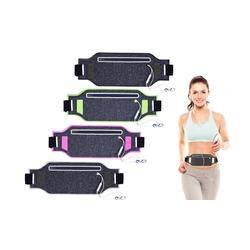Pochette ceinture pour le sport : Noir et Argent / 2