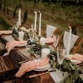 Serviettes de table réutilisables en gaze de coton, décoration de table, de mariage