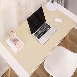 Dual Sided Desk Pad Multifunctional Desk Pad,Leather Desk Pad Protector Mouse Pad Office Desk Mat Non Slip Desk Mat Pu Leather Desk Pad for Gaming Office-Light Brown and Pink 60x40cm(24x16inch)