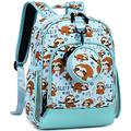 Choco Mocha Toddler Backpack for Girls Sloth Backpack for Toddler Girls Preschool Backpacks for Little Girl Small Bookbag 13 inch Prek Backpack for Kids with Chest Strap Child 2-4 3-5 Gifts, Blue
