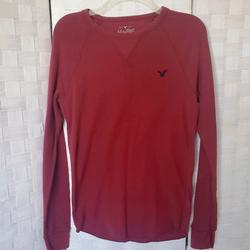 American Eagle Outfitters Shirts   American Eagle Mens Sz S Ls Thermal Shirt   Color: Red   Size: S