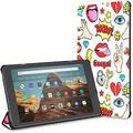 Case for Girl Lip Hold Luxury Diamond Fire Hd 10 Tablet (9th/7th Generation, 2019/2017 Release) Cases Kindle Fire Hd 10 Kindle Fire Hd 10 Tablet Cases and Covers Auto Wake/Sleep for 10.1 Inch Tablet