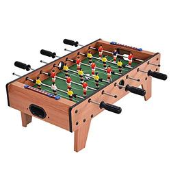 """Goplus 27"""" Foosball Table, Portable Tabletop Soccer Game w/ 2 Footballs & 18 Soccer Keepers for Family Night, Game Room, Arcades, Bars, Parties, Wooden Football Game Set for Adults & Kids"""