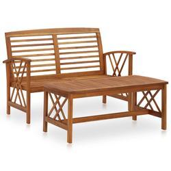 vidaXL 2 Piece Garden Lounge Set Solid Acacia Wood