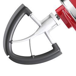 Flex Edge Beater For KitchenAid, Kitchenaid Mixer Accessories, Fits KitchenAid Tilt-Head Stand Mixer For 4.5-5 Quart Bowls, Flat Beater With Flexible Edges, White