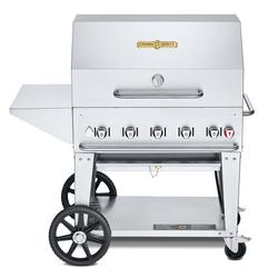 """Crown Verity MCB-36PKG-LP 34"""" Mobile Gas Commercial Outdoor Charbroiler w/ Water Pan, Liquid Propane"""