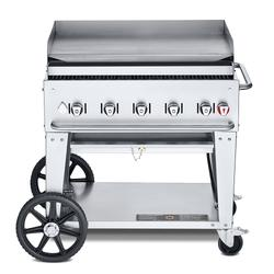 """Crown Verity MG-36LP 34"""" Mobile Gas Commercial Outdoor Griddle, Liquid Propane"""