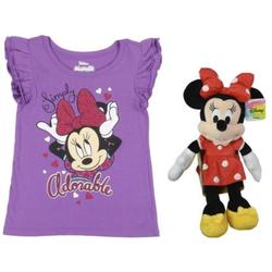 Disney Shirts & Tops | Disney Minnie Mouse Plush 13 And 3t Minnie Mouse | Color: Purple | Size: 3tg