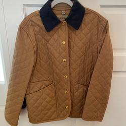 Burberry Jackets & Coats | Corduroy Collar Diamond Quilted Jacket | Color: Tan | Size: Xs