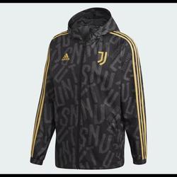 Adidas Jackets & Coats | Adidas Juventus Full Zip Windbreaker Jacket | Color: Black | Size: L
