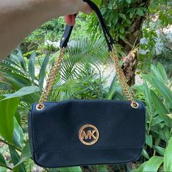 Michael Kors Bags   Michael Korsfulton Shoulder Flap Bag   Color: Black   Size: - Approx. 10 (Wide) X 6 (Tall) X 2 (Depth)