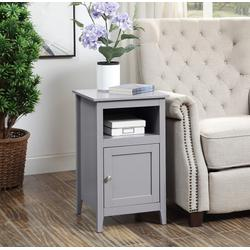 Designs2Go Storage Cabinet End Table with Shelf - Convenience Concepts 203652GY