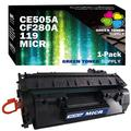 Green Toner Supply Compatible MICR Toner Cartridge Worked for HP CE505A CF280A 119 MICR Toner for use in HP Laserjet Pro 400 Series P2035 P2055D Series LBP6650dn Printer