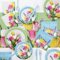 Creative Converting Spring Bouquet Easter Party Supplies Kit for 24 GuestsPaper in Pink/White/Yellow   Wayfair DTC6027E2H