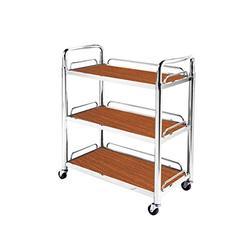 Yadianna Rolling cart - 3-layer Mobile Rack Hotel Service Car Tea Wine Cart Dessert Car Trolley Storage beauty service trolley