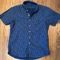 Ralph Lauren Shirts | Men'S Patterned Button Down Short Sleeve | Color: Blue/White | Size: S