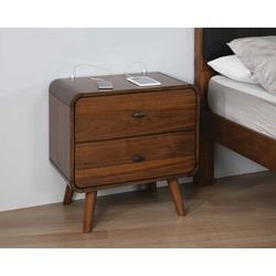 Wade Logan® Mcneal 2 - Drawer Nightstand in Dark Walnut Wood in Brown, Size 26.5 H x 27.0 W x 15.5 D in | Wayfair BAE15A5FB09147DE8B8B232FAFF6DD85