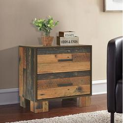 Foundstone™ Penelope 2 - Drawer Nightstand in Wood in Brown, Size 23.75 H x 21.75 W x 15.75 D in | Wayfair 1AA698FE15FC4F3E9037B93F411B5A3C