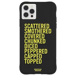 Waffle House x Case-Mate - Case for iPhone 12 Pro Max (5G) - Scattered, Smothered, Covered - 10 ft Drop Protection - 6.7 Inch - Black