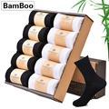 Chaussettes en bambou pour hommes, vêtements d'affaires, chaussettes longues en Fiber de bambou,