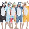 Pyjama d'été Kigurumi, combinaison à capuche, dessin animé, Animal, licorne, grenouillère pour