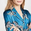 Maison Gabrielle – ensemble pyjama imprimé zèbre pour femme, haut et pantalon, short, 3 couleurs,