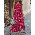 Été femmes à pois robe longue plage robes sans bretelles décontracté blanc Midi robe d'été 2021