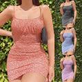 Grande Taille 5XL Col CARRÉ Mini Robe Femmes Sexy Robe de Plage Florale Mince Sans Manches Robes