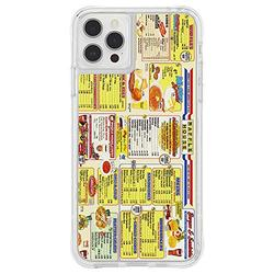 Waffle House x Case-Mate - Case for iPhone 12 Pro Max (5G) - Throwback Menu - 10 ft Drop Protection - 6.7 Inch - Clear