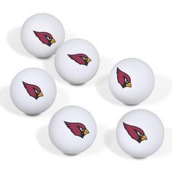 Arizona Cardinals Table Tennis Ball 6-Pack