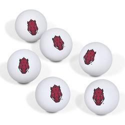 Arkansas Razorbacks Table Tennis Ball 6-Pack