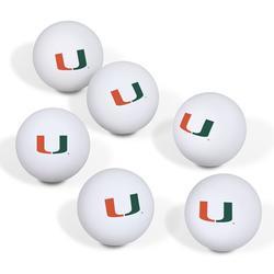 Miami Hurricanes Table Tennis Ball 6-Pack