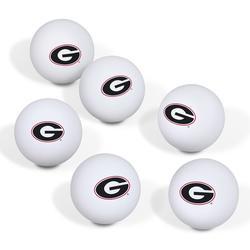Georgia Bulldogs Table Tennis Ball 6-Pack