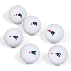 New England Patriots Table Tennis Ball 6-Pack