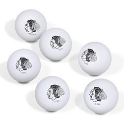 Chicago Blackhawks Table Tennis Ball 6-Pack