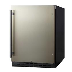 """Summit AL55CSS 23 1/2""""W Undercounter Refrigerator w/ (1) Section & (1) Solid Door - Stainless Steel, 115v"""